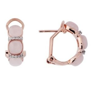 Milor Jewelry, 19mm Triple Stone Huggie Earrings